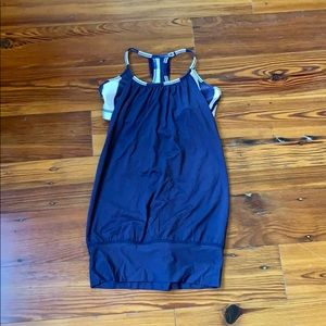 Navy blue lululemon tank top